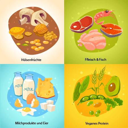 Verschiedene Proteinquellen